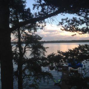 Sunset on Fish Hook Lake, Park Rapids.